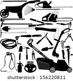 gardening tools collection  ... | Shutterstock .eps vector #156220811