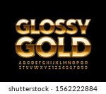 vector glossy gold font. luxury ... | Shutterstock .eps vector #1562222884