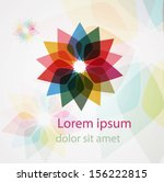 abstract flower symbol template....