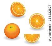 oranges  four views  whole ... | Shutterstock .eps vector #156222827
