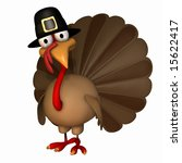 cartoon thanksgiving turkey... | Shutterstock . vector #15622417