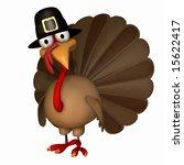 cartoon thanksgiving turkey...   Shutterstock . vector #15622417