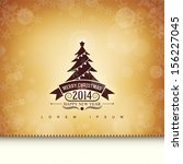 gift card with a christmas tree. | Shutterstock .eps vector #156227045