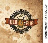 retro styled label of beer.... | Shutterstock .eps vector #156227369