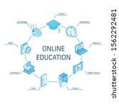 online education isometric... | Shutterstock .eps vector #1562292481