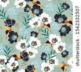 blossom floral pattern in the... | Shutterstock .eps vector #1562332507