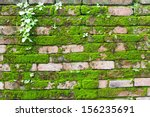 Old Concrete Brick Wall With...