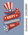 retro   constitution day vector ... | Shutterstock .eps vector #156238889