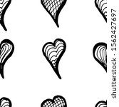 set of hand drawn hearts... | Shutterstock .eps vector #1562427697