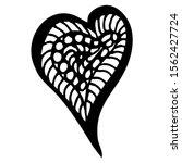 drawn heart  on a white... | Shutterstock .eps vector #1562427724