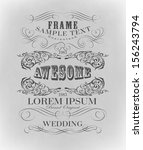 typography  calligraphic design ... | Shutterstock .eps vector #156243794