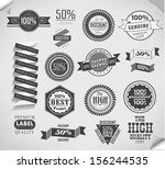 premium quality  guarantee and... | Shutterstock .eps vector #156244535