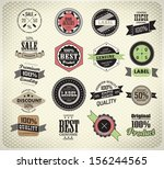 premium quality  guarantee and... | Shutterstock .eps vector #156244565