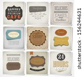 retro bakery labels and... | Shutterstock .eps vector #156244631