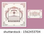 wedding invitation. vintage... | Shutterstock .eps vector #1562453704