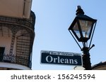 Orleans Street Sign In The...