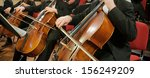 panoramic composition of cellos ... | Shutterstock . vector #156249209