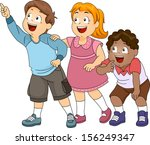 illustration of a group of... | Shutterstock .eps vector #156249347