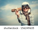 pilot with plane on a... | Shutterstock . vector #156249635