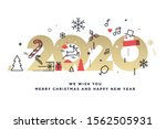 merry christmas and happy new... | Shutterstock .eps vector #1562505931