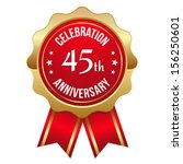 red gold forty five year... | Shutterstock .eps vector #156250601