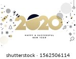 new year 2020 business greeting ... | Shutterstock .eps vector #1562506114