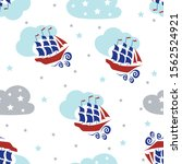 kids seamless pattern with...   Shutterstock .eps vector #1562524921