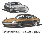 vintage japan drift car in...   Shutterstock .eps vector #1562531827