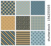 set of 9 abstract seamless...   Shutterstock .eps vector #156255335