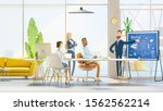 people work in a team and... | Shutterstock . vector #1562562214