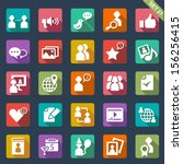 social media icons | Shutterstock .eps vector #156256415