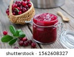 Jar Of Crushed Cranberries For...
