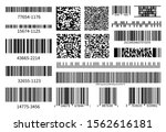 barcodes collection. vector... | Shutterstock .eps vector #1562616181