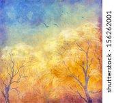 digital art autumn landscape as ... | Shutterstock . vector #156262001