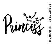 princess vector design. crown... | Shutterstock .eps vector #1562629681