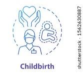 childbirth blue gradient...   Shutterstock .eps vector #1562630887