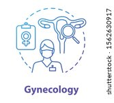 gynecology blue gradient... | Shutterstock .eps vector #1562630917