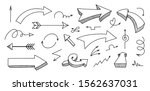 set of hand drawn different... | Shutterstock .eps vector #1562637031