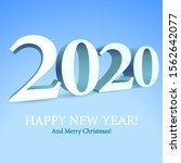 2020 happy new year background  ... | Shutterstock .eps vector #1562642077