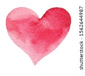 hand painted watercolor hearts. ... | Shutterstock . vector #1562644987