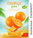 juice placard. advertizing... | Shutterstock .eps vector #1562646937