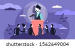 stage fright vector... | Shutterstock .eps vector #1562649004