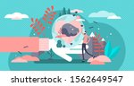 save the wildlife vector... | Shutterstock .eps vector #1562649547