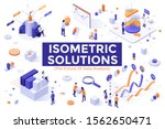 set of colorful isometric... | Shutterstock .eps vector #1562650471
