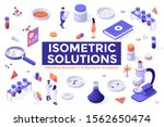 bundle of colorful isometric... | Shutterstock .eps vector #1562650474