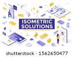 collection of isometric design... | Shutterstock .eps vector #1562650477