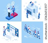 isometric business concepts....   Shutterstock .eps vector #1562651557