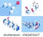 isometric business concepts.... | Shutterstock .eps vector #1562651617