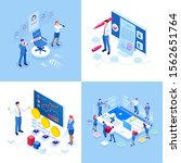 isometric business concepts.... | Shutterstock .eps vector #1562651764