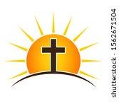 Christian Cross On A Sun...